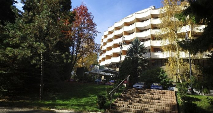 banik-liecebny-dom-bojnice-stromy-les-chodnik
